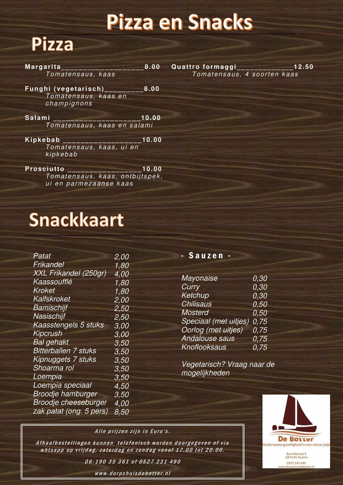 download de snack en pizzakaart